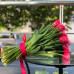 Ярко-розовые тюльпаны без упаковки